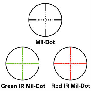 Mil dot reticle riflescope